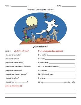 Halloween - Gramatica (ser) y Vocabulario (el cuerpo)