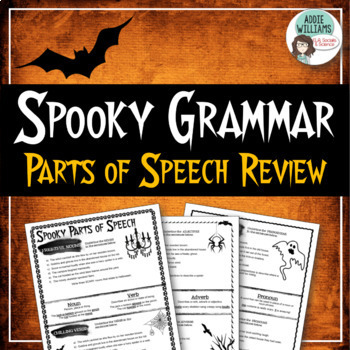 Halloween - Parts of Speech Review