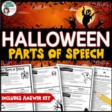 Halloween - Parts of Speech Review