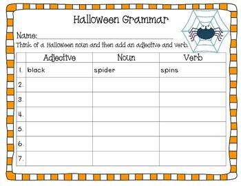 Halloween Grammar Activities
