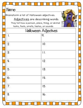 Halloween Grammar Activities