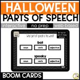 Halloween Grammar BOOM CARDS: Parts of Speech