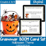 Halloween Grammar BOOM Cards for Digital Learning and Dist