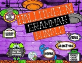 Halloween Grammar Bundle of Differentiated Learning Centers and Activities