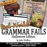 Halloween Activities, Grammar Fails in the Real World, Pro