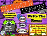 Halloween Grammar Five Different Write the Room  Centers