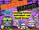 Halloween Grammar Individual and Small Group Centers Diffe
