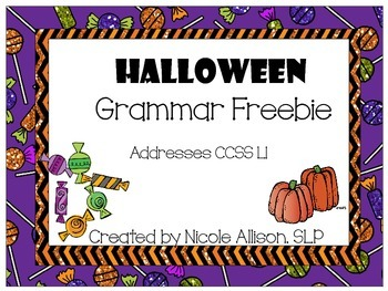 Halloween Grammar Pack Freebie
