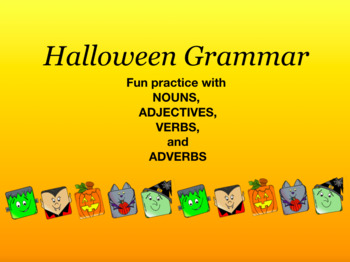 Halloween Grammar Practice and Coloring