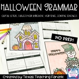 Halloween Grammar Review with Coloring Page