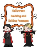 STAAR Halloween Grammar Passages: Revising Passage and Editing Passage