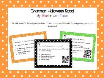 Halloween Grammar Scoot