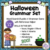 Halloween Grammar Word Search Puzzles  Noun, Verb, Adjecti