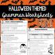 Halloween Grammar Worksheets