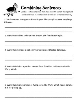 Halloween Grammar and Math No-Prep Printables for Morning Work