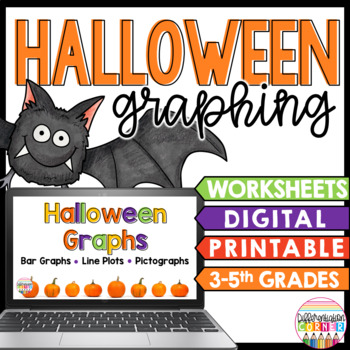 Halloween Math Worksheets with Graph Practice