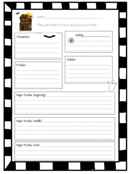 Halloween Graphic Organizer