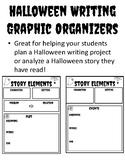 Halloween Graphic Organizer Story Elements Halloween Writing Graphic Organizers