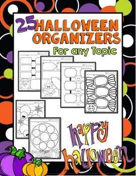 Halloween: Graphic Organizers for Writing, Reading, or Any Subject