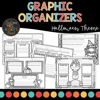 Halloween Graphic Organizers | Reading Comprehension | October Activities