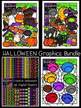 Halloween Graphics Bundle {Creative Clips Digital Clipart}
