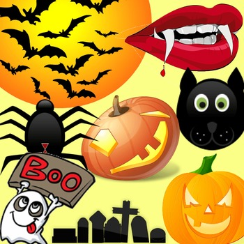 Halloween Clipart,Borders,Backgrounds & Templates Bundle|Commercial Rights