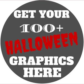Halloween Clipart,Borders,Backgrounds & Templates Bundle|C