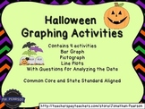 Halloween Graphing Activities - Four Graphs for Teaching or Review