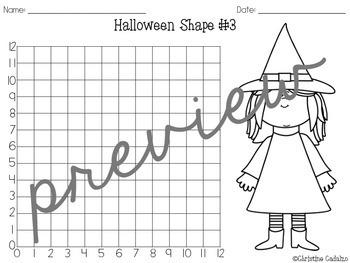 Halloween Coordinate Grids