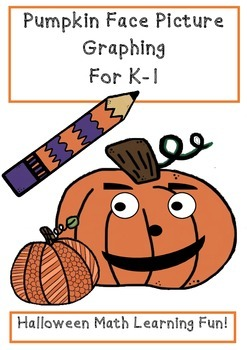 Halloween Graphing Pumpkin Face Picture Cut & Paste Graphing for K-1