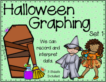 Halloween Graphing ~ Record and Interpret Data ~ Set 1