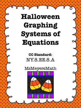 Halloween Graphing Systems of Equations Coloring Activity