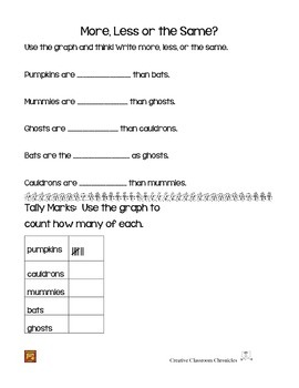 Halloween Graphing, tallies, addition