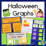 Halloween Pictographs, Horizontal and Vertical Graphs