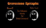 Halloween Gravestone Creative Writing for British Literature