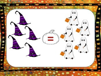 Halloween Math - Compare Numbers on Ppt!   Great fun for Smartboard!