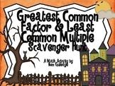 Halloween Greatest Common Factor & Least Common Multiple S