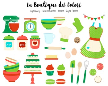 Christmas Baking Clipart - PNG Cute Clip Art Graphics - For Small Commercial Use