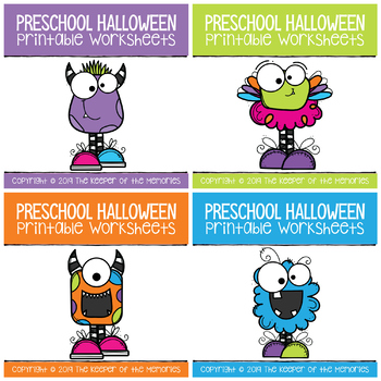 Halloween Growing Bundle Preschool Worksheets