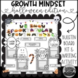 Halloween Growth Mindset Bulletin Board Kit and Writing Activity