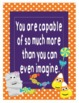 "Halloween Growth Mindset Posters - 8.5""x11"", 18""x24"" - Ready for Printing"