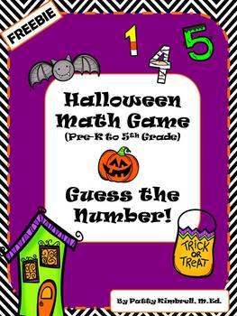 Halloween Math Game Guess The Number FREEBIE