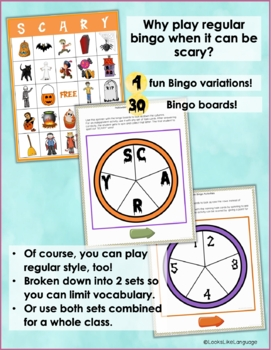 Halloween Bingo Game: Making Inferences