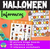 Halloween Bingo | Inference Picture Activities | Task Cards | Mixed Groups