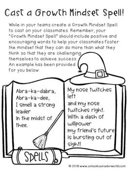 Halloween Guidance Lesson on Growth Mindset for Grades 2-3