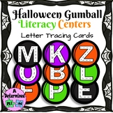 Halloween Gumball Literacy Center FREEBIE - Letter Tracing Cards