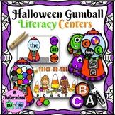 Halloween Gumball Literacy Centers
