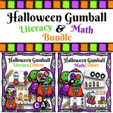 Halloween Gumball Literacy and Math Centers Bundle