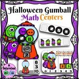 Halloween Gumball Math Centers