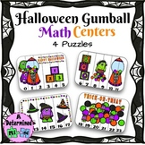 Halloween Gumball Math Center FREEBIE - Puzzle by Numbers